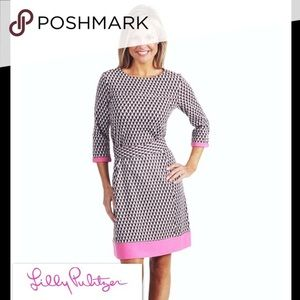Lilly Pulitzer brown houndstooth dress